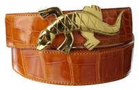 Hermes Hermes Alligator Belt with Gold Lizard Buckle