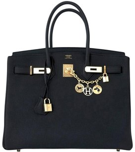Herms Hermes Birkin Tote in Black