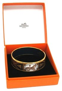 Hermès Hermes Cloisonne Bangle Large Metal Bracelet