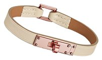 Hermès Hermes Craie Swift Rose Gold Micro Kelly Leather Bracelet Medium