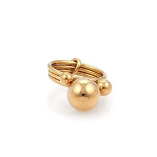 Hermès Hermes 18k Rose Gold Triple Stack Band Graduated Bead Ring - 5.25