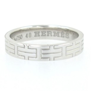 Herms Hermes Mixed White Ring