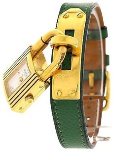Hermès Ladies Hermes Kelly Pm 18k Yellow Gold Plated Stainless Steel Watch