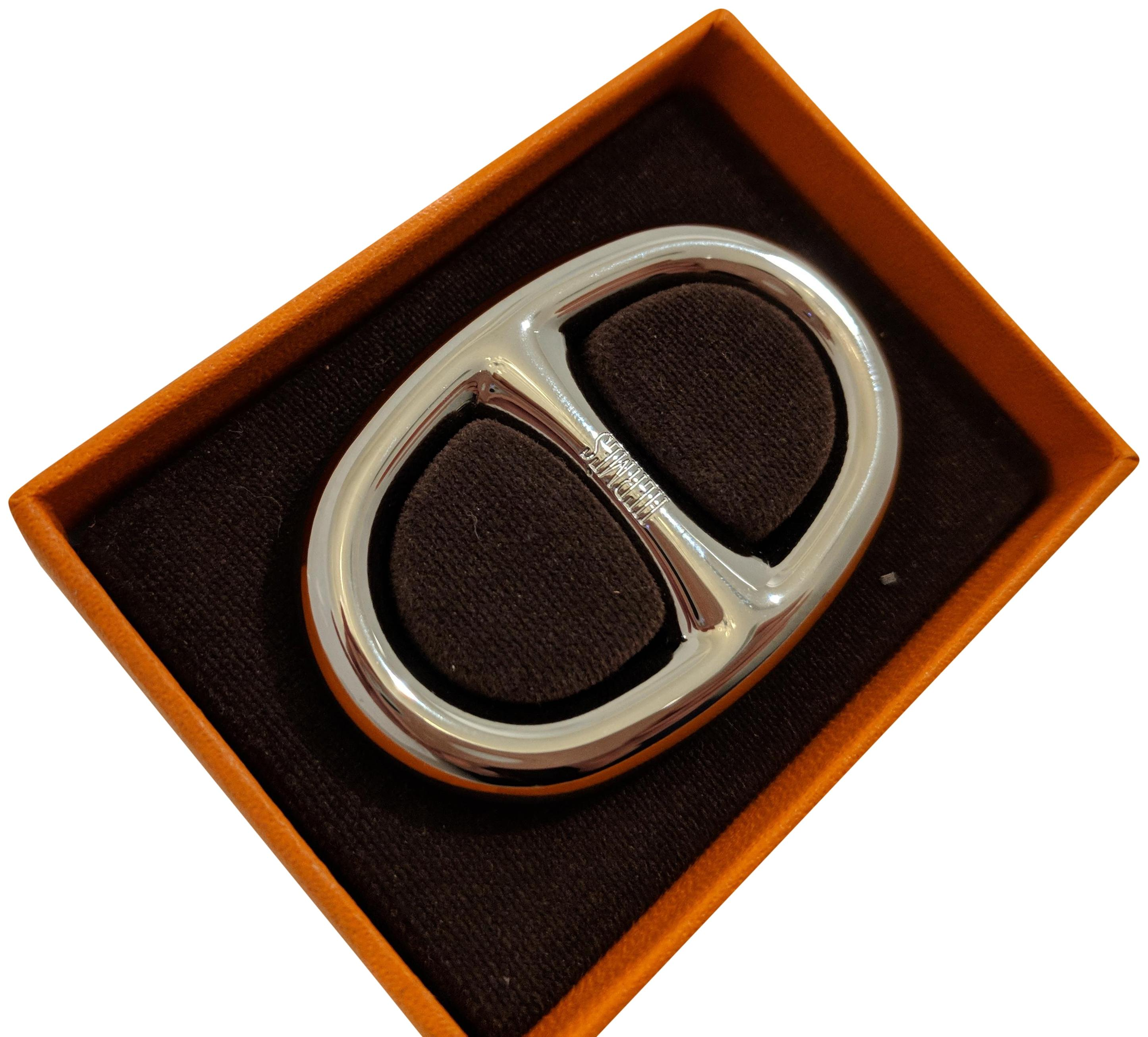 italy hermès scarf ring trio gold plated be755 e322a  coupon for hermès  palladium chaine dancre scarf ring 10bb1 a2233 370dbab3fa7