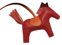 Hermès Rodeo Horse Charm MM Red rouge casaque