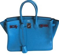 Herms Satchel in Blue-Thalassa