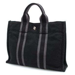 Herms Tote in Black