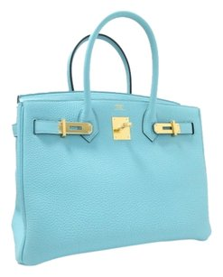 Hermès Tote in Blue Atoll(Hardware:Gold)