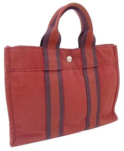 Herms Tote in Canvas