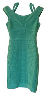 Hervé Leger Aquamarine Bandage Dress