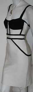 Hervé Leger Herve White Black Dress