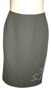 Hillard & Hanson Straight Pencil Skirt Green
