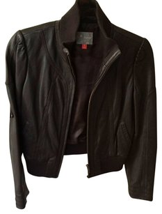 Hinge Chocolate Brown Leather Jacket