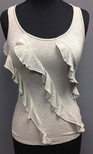 H.I.P. Hip Happening In The Present White Stripe Rayon Racerback Sm10057 Top Gray