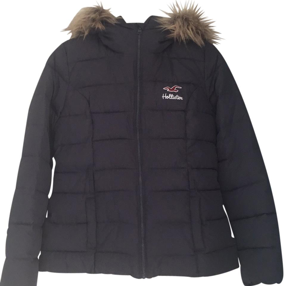 hollister black parka
