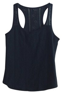 Hollister Lace Racer-back Top Navy blue