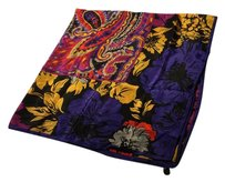 Honey Punch Psychedelic Vintage Silk Scarf