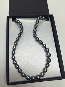 Honora Honora 18 Cultured Blue Gray Pearl Necklace In Box Ko
