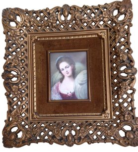 Honore Fragonard Vintage portrait de Jeune Fille in A Cameo Creation frame