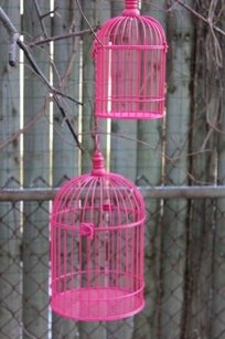 Hot Pink Birdcage Bird Cage Candle Holder Centerpieces Fuchsia 15