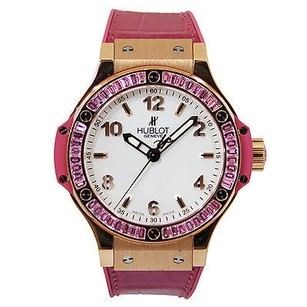 Hublot Hublot Tutti Frutti Big Bang 18k Rose Gold Factory Set Pink Sapphire Baguette