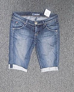 Hudson Jeans Flat Front Wash Casual Shorts Blue