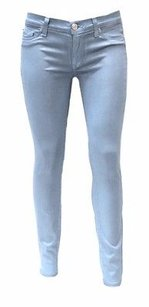 Hudson Jeans Hudson Krista Blue Wax Coated Skinny Stretch Fit 160716c Tag Skinny Jeans