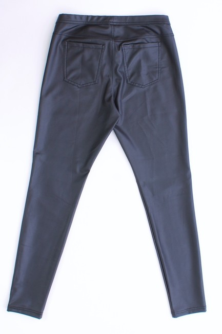 Hue Faux Leather Stretchy Black Leggings