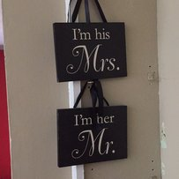 I'm His Mrs. I'm Her Mr. Hanging Signs