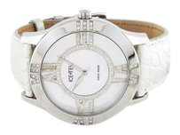 Icetek Ladies Diamond MOP Dial with White Leather Band Watch