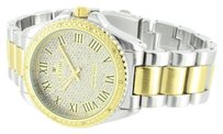 IceTime Mens Tone Watch Icetime Genuine Diamond Water Resistant Party Wear Analog Sale