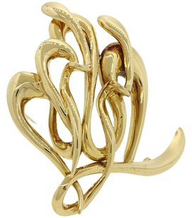 Ilias lalaounis Ilias Lalaounis 18K Solid Yellow Gold Artistic Repousse Collection Large Brooch Pin