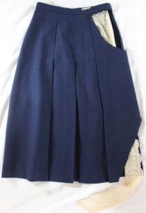 Imitation of Christ Navy Lace Skirt Blue