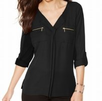 INC International Concepts 100% Polyester 58672bl899 Top