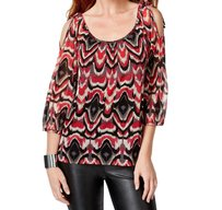 INC International Concepts 5x341ed899 Long Sleeve Top