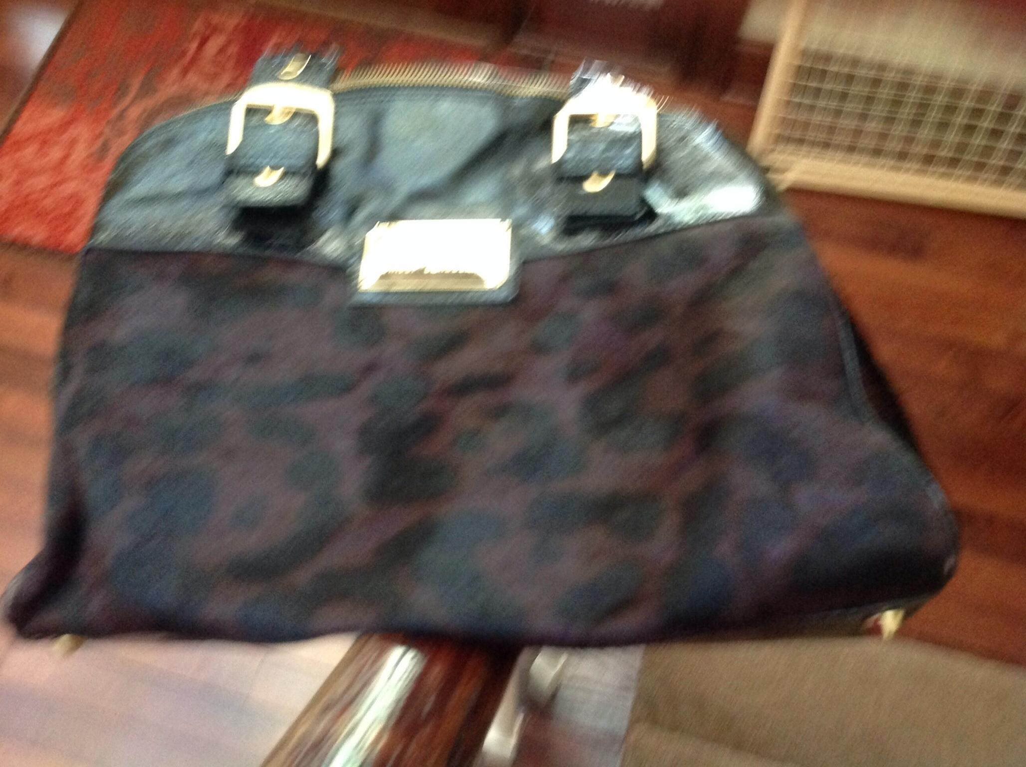 Black with Dyed Hair Brown/Black Leopard Print Paten ...