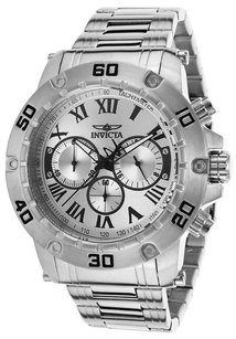 Invicta INVICTA Specialty Chrono Stainless Steel Silver-Tone Dial watch