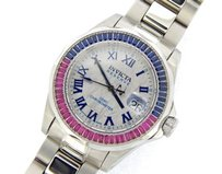 Invicta Invicta Stainless Steel Cosc Reserve Meteorite Diamond Blue Sapphire Red Ruby