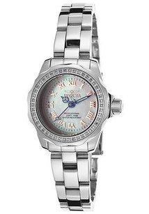 Invicta Ladies Invicta 15518 Wildflower Silver-tone Steel White Mop Dial Watch