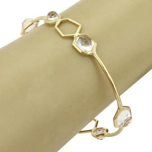Ippolita Ippolita Rock Candy Clear Quartz 18k Yellow Gold Bangle -