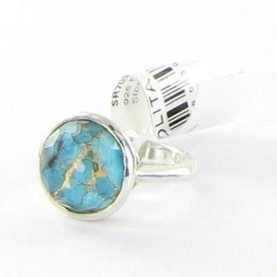 Ippolita Ippolita Rock Candy Ring 14mm Quartz Over Turquoise Sterling