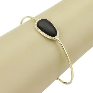 Ippolita Ippolita Pebble 18k Yellow Gold Pave Diamonds Black Onyx Bangle