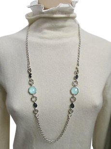 Ippolita Ippolita Silver Mother Of Pearltopaz Turquoise Rock Candy Reversible Necklace