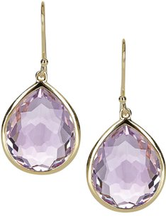 Ippolita Ippolita Teardrop 18-karat gold amethyst drop earrings