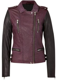IRO J Brand Rag Bone Black & Burgundy Jacket