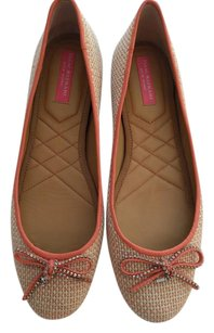 Isaac Mizrahi Pink and cream Flats