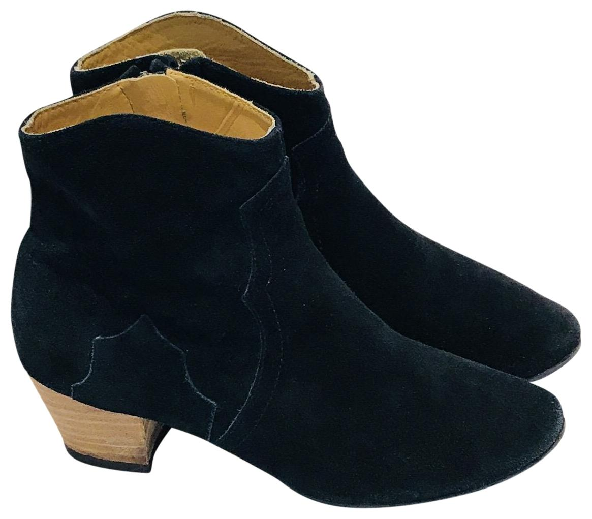 Isabel Marant Black Suede Ankle Boots/Booties Size EU 38 (Approx. US 8) Regular (M, B)
