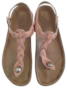 Isabel Marant Brook Braided Leather Thong K Pale Pink Sandals