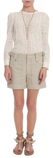 Isabel Marant Lace Up Cotton Bermuda Shorts Beige