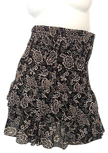 Isabel Marant 100 Flowers Printed Elastic Waist Mini K Mini Skirt Black